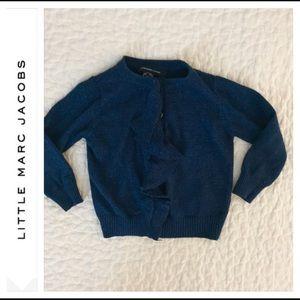 Little Marc Jacobs Ruffle Snap Closure Cardigan